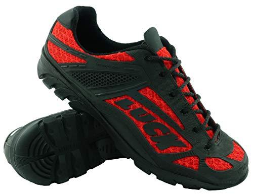 LUCK Zapatillas de Ciclismo Predator 18.0,con Suela de EVA Ideal para Poder adaptarte a Cualquier Terreno y disciplina Deportiva. (42 EU, Rojo)