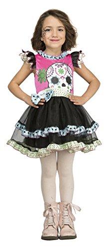Desconocido My Other Me-204039 Disfraz de calaverita de colores para niña, 5-6 años (Viving Costumes 204039)