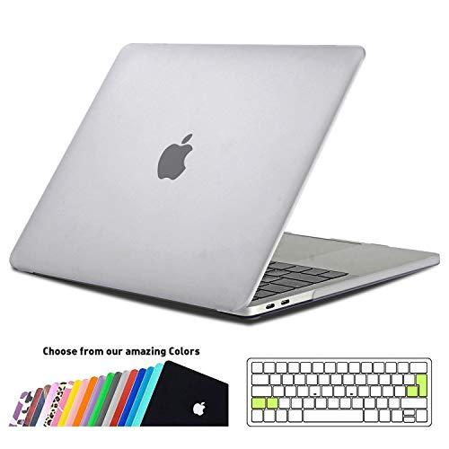 iNeseon MacBook Pro 15 Hülle Case 2019/2018/2017/2016,Hartschale Cover Schutzhülle mit Tastaturschutz für MacBook Pro 15 Zoll mit Touch Bar Modell A1707/A1990, Frost Klar