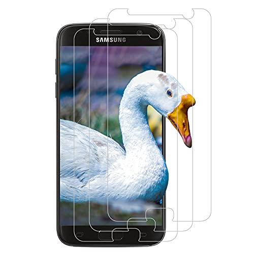 (3 Stück) Panzerglas Schutzfolie für Samsung Galaxy S7, 2.5D Gekrümmte Kante, Anti-Bläschen und Anti-Kratzen Glasfolie, HD Panzerglas Displayschutzfolie für Samsung Galaxy S7 - Transparent