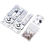 INCREWAY Muebles Conector Soporte, 2 Piezas U-Type Metal Sofá Enclavamiento Muebles Conector Incluidos Tornillos