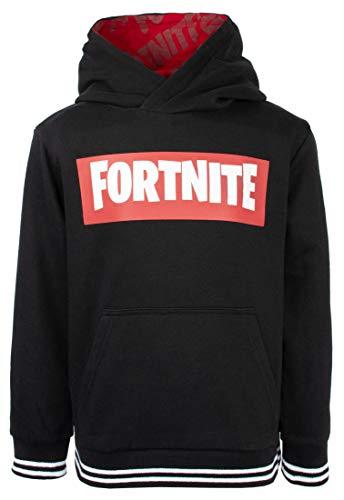Fortnite - Sudadera con capucha para niños, color negro