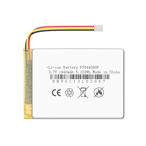JLB7tech Rechargeable 3.7V 1440mAh Battery Compatible with LBtech Video Baby Monitor LB55953-1T/55953-2T 55963-1T/55963-2T/55932-1T/55932-2T/55983-1T/55983-2T/JLB55953B/55953BV (Monitor Unit)
