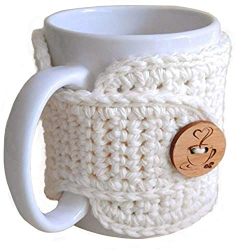 crochet coffee cup cozy - 2