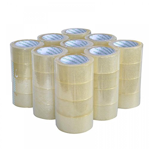 """Rolls Box Carton Sealing Packing Packaging Tape 2""""x110 Yards(330' ft) Clear"""