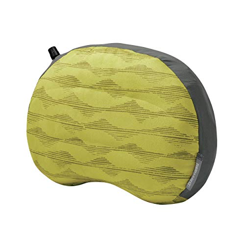 Therm-a-Rest Air Head Inflatable Travel Pillow for Camping and Travel, Yellow Mountains, Regular - 11 x 15.5