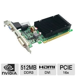 512P31301TX–EVGA 512P31301TX EVGA 512P31301GeForce 8400GS 512MB DDR3PCI 32bits e 20tarjeta de video