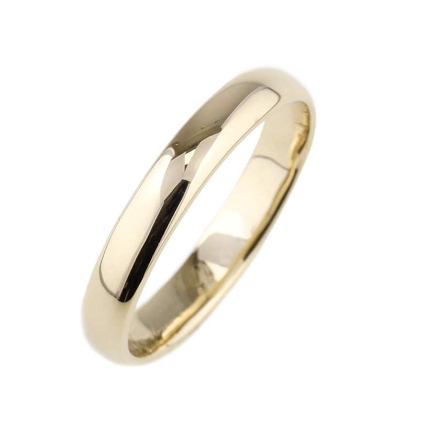またねメトロポリタン粗い[リュイール] リング メンズ 地金 K10 イエローゴールド 甲丸 4ミリ幅 結婚指輪 マリッジ 13.5号