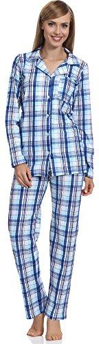 Merry Style Damen Schlafanzug MSTR2001 (Blau-2A, 40 (Herstellergröße: L))