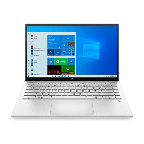 HP Pavilion x360 14-dy0212ng (14 Zoll / FHD IPS Touch) 2in1 Convertible Laptop (Intel Pentium Gold 7505, 8GB DDR4 RAM, 256GB SSD, Intel UHD Grafik, Windows 10, QWERTZ) silber