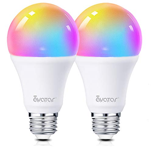 Lampadina Smart E27 WiFi Lampadine Alexa Intelligence 8W RGBW 800LM Multicolore Dimmerabile Compatibile con Alexa/Google Assistant 70W by Avatar Controls Nessun Hub Richiesto (2)