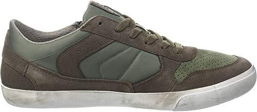 Geox Herren U Box C Sneaker, Braun (Charcoal/Sage), 42 EU