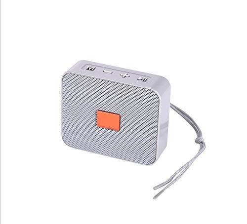 XIXV Mini Altavoz Portátil Bluetooth pequeño Radio de la música de Columna Subwoofer Altavoces USB for los teléfonos con TF FM Radio Integral Mic Boombox (Color : Grey, Size : A)
