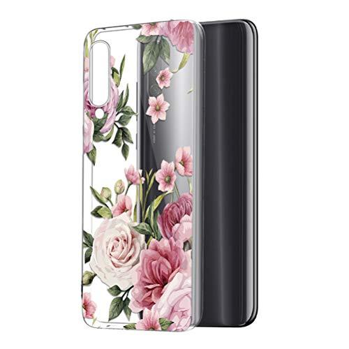 ZhuoFan Xiaomi Mi 9 Lite/Mi CC9 Hülle, Silikon Transparent Clear Schutzhülle mit Muster Motiv Handyhülle Ultra Dünn Slim Stoßfest Weich TPU Bumper Hülle für Xiaomi Mi 9 Lite [6.39