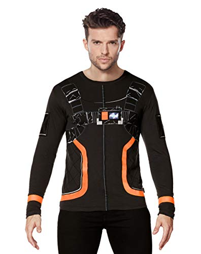Adult Fortnite Dark Voyager Costume T Shirt - L