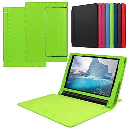 Asng Lenovo Yoga Tab 3 8 Case - Slim Folding Stand Cover Smart Case for 2015 Lenovo Yoga Tab3 8-Inch Tablet (Green)