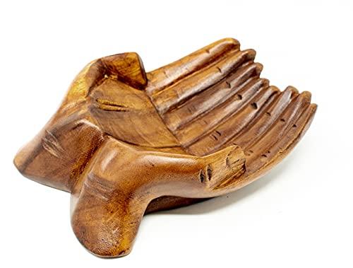 Holzwaren fairtrade bol de fruits-bac de rangement en bois massif-bol soar main