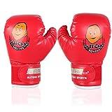 Guanti del Pugilato per Bambini 3-12 Anni Guanti di Addestramento Allenamento Boxe Guantoni Boxing Gloves Pugilati ( Colore : Rosso )