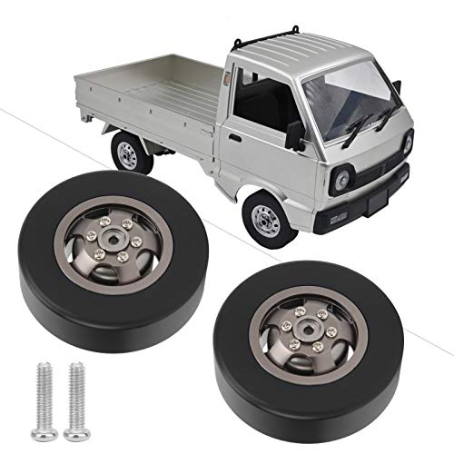 IDWT Neumático de llanta RC, Neumáticos RC para Alta Resistencia al Desgaste WPL para vehículos RC para usuarios de Coches RC(Titanium T)