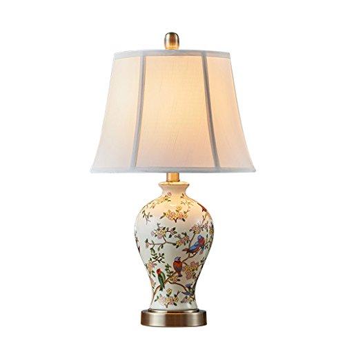 Caisedemeng Lámparas de Escritorio Decoración del Lámpara de cerámica E27 Dormitorio Cama del jardín Caliente Sala Tela decoración de la Tabla de la lámpara