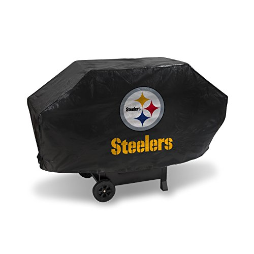 NFL Rico Industries Vinyl Padded Deluxe Grill Cover, Pittsburgh Steelers