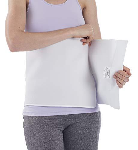 NYOrtho Plush Elastic Abdominal Binder - Soft Latex-Free Wrap for Men and Women (30' - 45') 4 Panel - 12' High