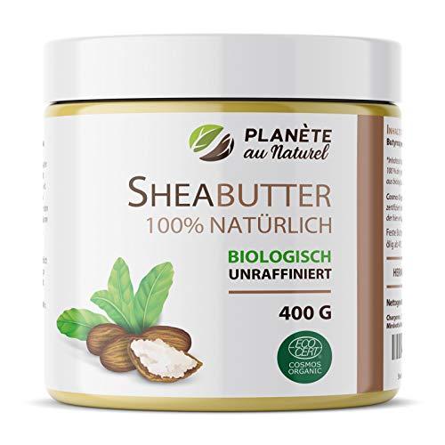 SheaButter Biologisch 400g - Karité Butter - 100% Rein -100% Natürlich - Unraffiniert