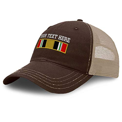 Custom Baseball Cap Iraq War Veteran Flag Only Embroidery Cotton Soft Mesh Cap Snapback Brown Khaki Personalized Text Here