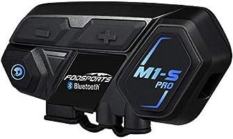 FODSPORTS M1-S PRO バイク インカム 最大8人同時通話 強い互換性 連続使用20時間 日本語案内 Bluetooth4.1 いんかむ マルチデバイス接続 ヘッドセット ユニバーサル機能 インターコム 防水 HI-FI音質...