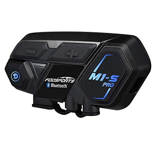 FODSPORTS バイク インカム M1-S Pro 最大8人同時通話 Bluetooth4.1 強い互換性 連続使用20時間 日本語音声...