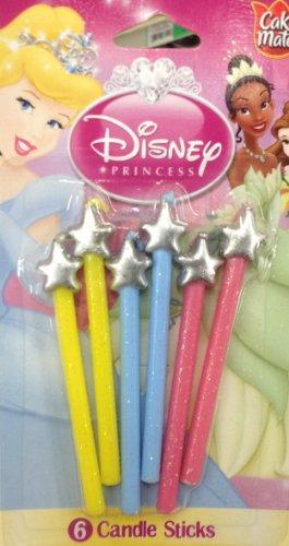 Betty Crocker - Disney PRINCESS Candle Sticks - 6 Pieces