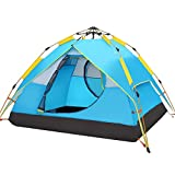HEWOLF Automatic Camping Pop-up Tent 2-3 Person Waterproof Instant Setup Hydraulic Tents Double