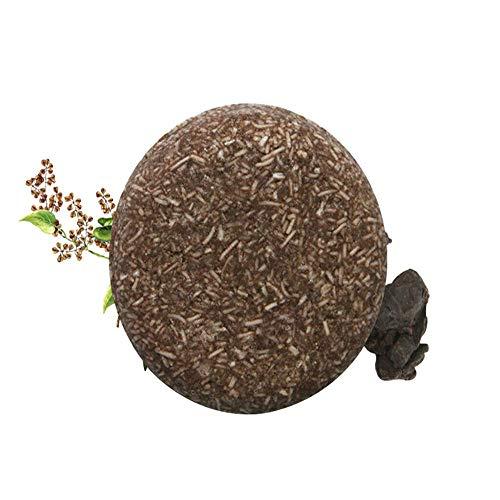 Shampooing Savon Extrait de plante Huile essentielle Nourrit le cuir chevelu Croissance des cheveux Savon capillaire assombrissant Hydratant et réparant les cheveux abîmés (Polygonum)