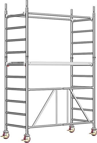 Layher Zifa Alu-Fahrgerüst 621 - Arbeitshöhe 3,61 m - Mindestanforderung DIN EN 1004