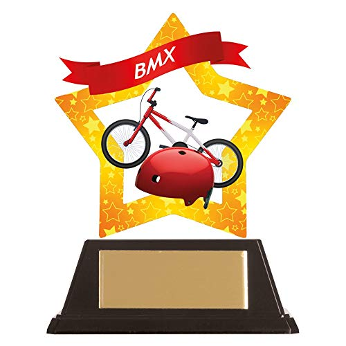 A1 PERSONALISED GIFTS Acrylic Star BMX Trophies