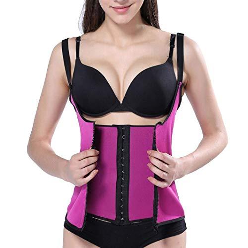 Nvfshreu Body Shaper vest korset sweat rits dames sauna body eenvoudige stijl shaper vrouwen afslanken vest taille trainer