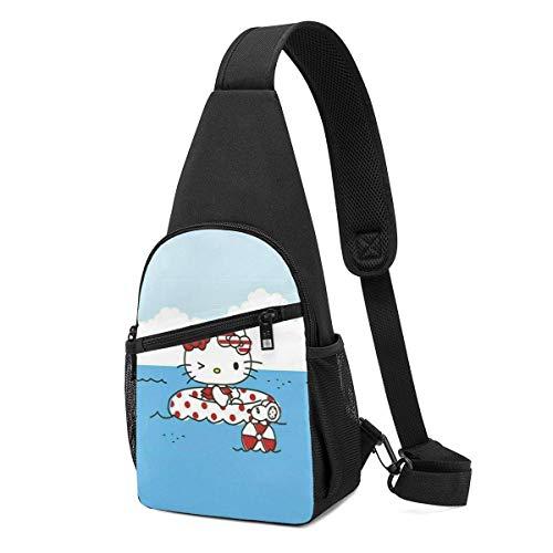 Mochila bandolera Hello Kitty para ir a la piscina, para viajes, senderismo, para mujeres y hombres
