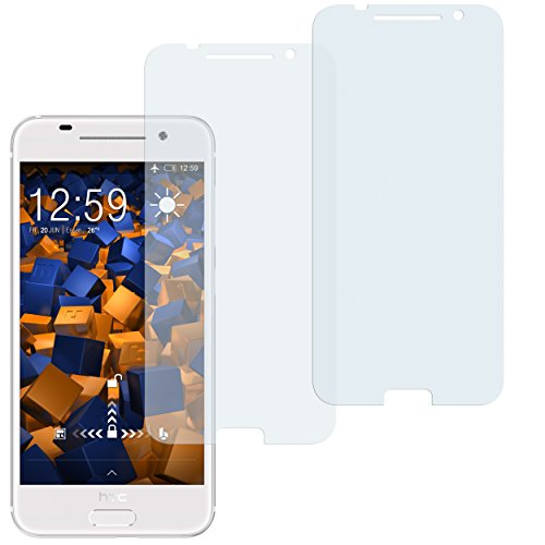 mumbi Schutzfolie kompatibel mit HTC One A9 Folie klar, Bildschirmschutzfolie (2X)