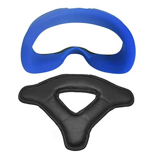 S-TROUBLE 1 Juego de Funda de Silicona Suave para mascarilla con Almohadilla de protección de Espuma para Auriculares para Gafas Oculus Quest VR, Accesorios para Auriculares