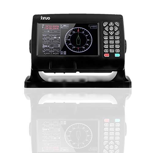 Navegación GPS, trazador de cartas de barco de 7 pulgadas Marine BDS/GPS IPX6 Impermeable A prueba de polvo AIS Alarma