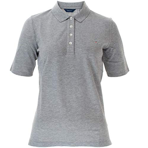 GANT Damen-Poloshirt The Original Pique Lss Gr. X-Large, Grau (93)