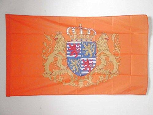 AZ FLAG Flagge STANDARTE des GROßHERZOGS VON Luxemburg 150x90cm - LUXEMBURGISCHE Fahne 90 x 150 cm Scheide für Mast - flaggen Top Qualität