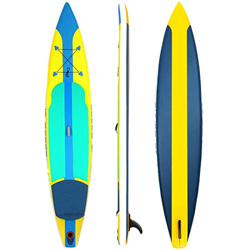Tabla De Paddle Surf Hinchable,Unisex Tabla SUP Paddleboard Kit,Stand Up Paddle Board,15 CM De Espesor,Kayak,Almohadilla Integrada,Accesorios Completos,380 * 76 * 15cm