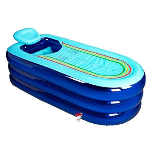 Badewanne XL aufblasbare faltende Erwachsenen, Plastikbadewanne Portable, Hauptbadekurort, tränkende, 168cm*78cm*45cm