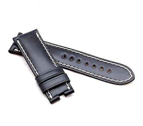 BOB Unisex Faltschließband Marino Cordovan kompatibel Panerai 24 mm schwarz