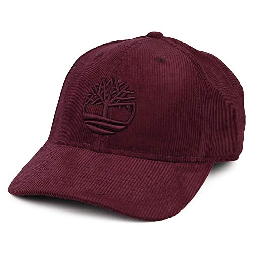 Timberland Logo Kord Baseball Cap - Weinrot - Einheitsgröße