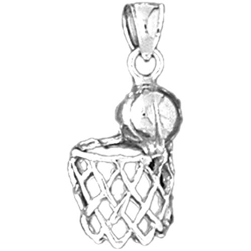 Jewels Obsession Basketball-Anhänger Sterling-Silber 925 22 mm
