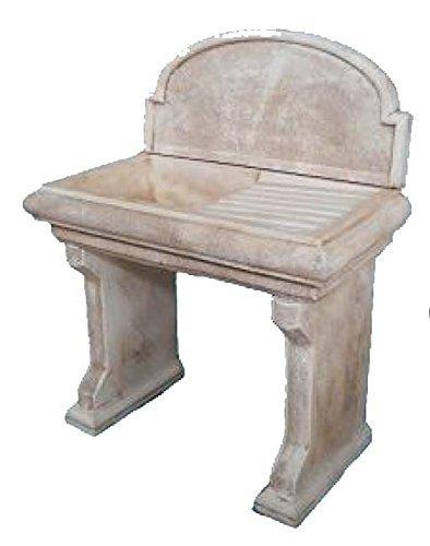 ARTISTICA GRANILLO LAVELLO in Cemento, LAVABO, LAVANDINO, Fontana, Misure: 98X53 H 120 CM.