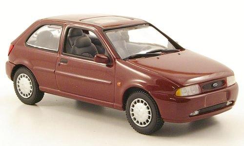 Ford Fiesta MKIV, met.-dkl.-rot, 3-Türer, 1996, Modellauto, Fertigmodell, Minichamps 1:43