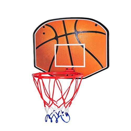 ZXCVB Aro de baloncesto para niños pequeños, aro de baloncesto para colgar en interiores, plegable, para el hogar, sin perforación, para niños y mujeres, juguetes de baloncesto